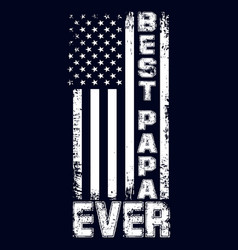 Best papa ever design with usa flag for t shirt vector