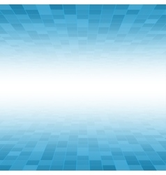 Blue Mosaic Tile Square Background Perspective vector