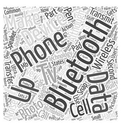 Bluetooth In Action Word Cloud Concept vector image