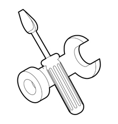 Bolt driver icon outline isometric icon vector