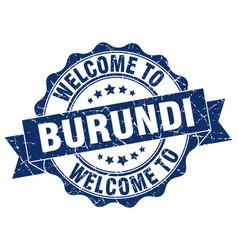burundi round ribbon seal vector image