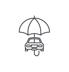 car insurance line icon concept car insurance vector image