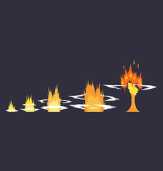 cartoon explosion effect with smoke effect boom vector image