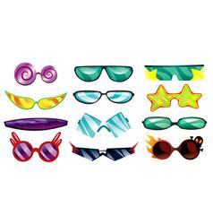 Cartoon eyeglasses or sunglasses in stylish vector