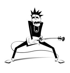Cartoon guitar player isolated vector