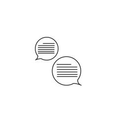 chatting icon vector image