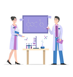 chemists in laboratory vector image
