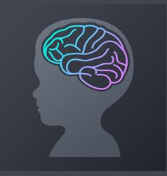 Children brain icon design logo vector