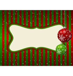 christmas green and red card vector image