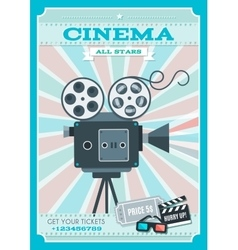 Cinema Retro Style Poster vector