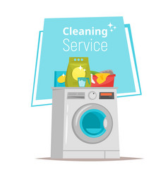 cleaning service stuff vector image