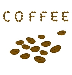 Coffee beans and the word Coffee vector