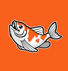 cute kawaii koi fish vector image