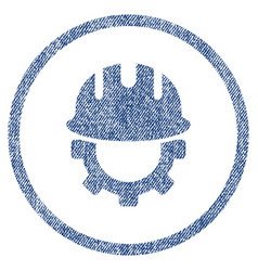 development hardhat fabric textured icon vector image