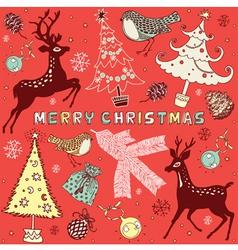 Doodle Christmas Card vector