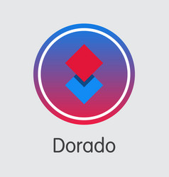 Dorado digital currency dor colored logo vector
