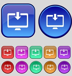 Download Load Backup icon sign A set of twelve vector