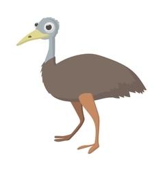 Emu icon cartoon style vector