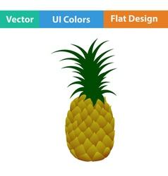 Flat design icon of Pineapple vector