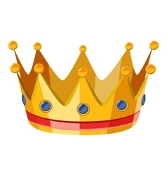 Gold crown icon isometric 3d style vector
