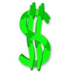 Green dollar symbol vector