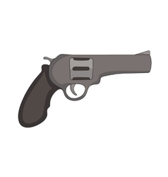 hand drawn revolver vector image