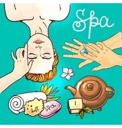 hand drawn spa vector image