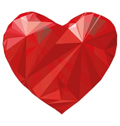 Heart origami Low-poly vector image