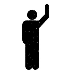 Hitchhike Pose Grainy Texture Icon vector