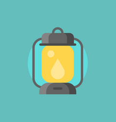 hurricane lamp icon flat design vector image
