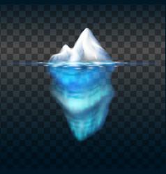 iceberg on transparent background block vector image