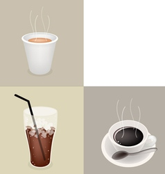Iced Hot Cup Coffee vector image