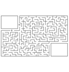 Labyrinth game maze conundrum with entry and exit vector