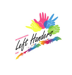 left handers day stylish concept vector image