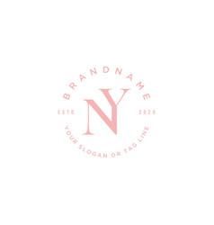 Letter ny logo design vector