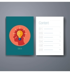 Modern idea and brain storm flat icon cards design vector