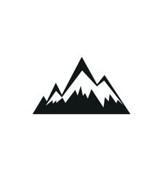 Mountains web simple black icon on white vector