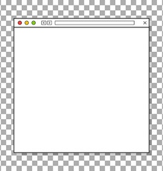 Opened browser window template Past your content vector image