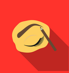 painted eyebrows icon in flat style isolated on vector image