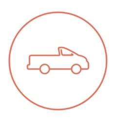 Pick up truck line icon vector image