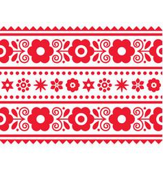 Polish folk art long seamless pattern vector