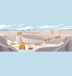 quarry landscape flat marble vector image