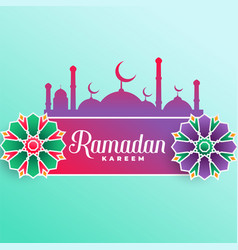 Ramadan kareem muslim festival background vector