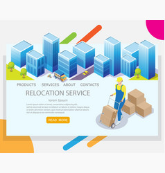 relocation service website landing page vector image