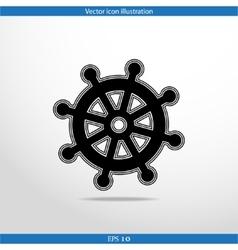 Rudder web flat icon vector