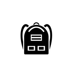 school backpack icon simple flat vector image