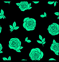 seamless texture of green roses vector image