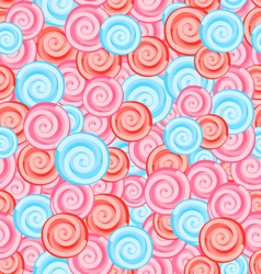 Seamless Texture with Colored Sweets Swirl vector