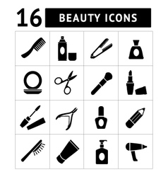 Set icons of beauty and cosmetics vector