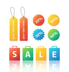 set of colorful stickers and labels for vector image vector image